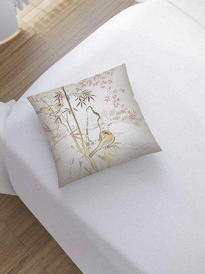 Наволочка декоративная «Птицы на ветках» на молнии, 45x45 см