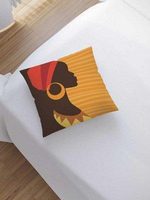 Наволочка декоративная «Украшение африканки» на молнии, 45x45 см