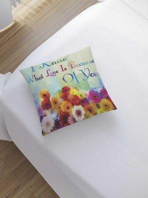 Наволочка декоративная «Что такое любовь» на молнии, 45x45 см