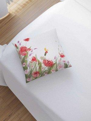 Наволочка декоративная «Краски цветов» на молнии, 45x45 см