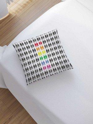Наволочка декоративная «Радужный взгляд» на молнии, 45x45 см