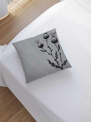 Наволочка декоративная «Мрачный чертополох» на молнии, 45x45 см