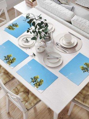 Комплект салфеток для сервировки стола «Облачные пальмы» (32х46 см, 4 шт.)
