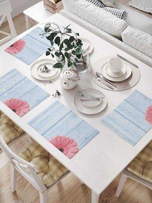 Комплект салфеток для сервировки стола «Цветочная декорация» (32х46 см, 4 шт.)