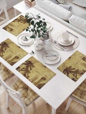 Комплект салфеток для сервировки стола «Городские пальмы» (32х46 см, 4 шт.)