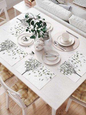 Комплект салфеток для сервировки стола «Денежные листья» (32х46 см, 4 шт.)