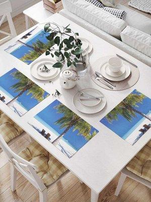 Комплект салфеток для сервировки стола «В тени пальмы» (32х46 см, 4 шт.)