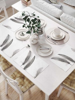Комплект салфеток для сервировки стола «Стойкие перья» (32х46 см, 4 шт.)