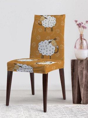 Dvcc_73740 Декоративный чехол на стул со спинкой велюровый