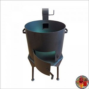 Печка на 12л с   трубой,  дверцей и заслонкой