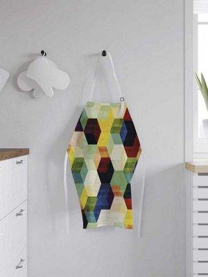 Фартук кухонный регулируемый «Цветные пятиугольники», универсальный размер