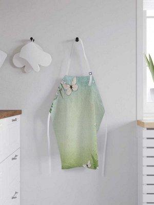Фартук кухонный регулируемый «Бабочки и гербера», универсальный размер
