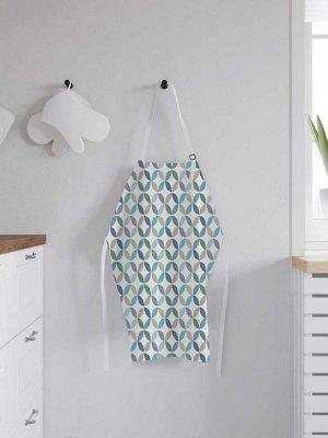 Фартук кухонный регулируемый «Круги с цветных частей», универсальный размер