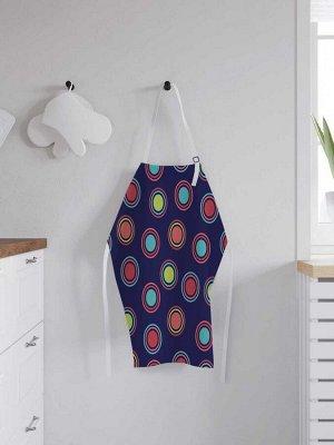Фартук кухонный регулируемый «Цветные круги», универсальный размер