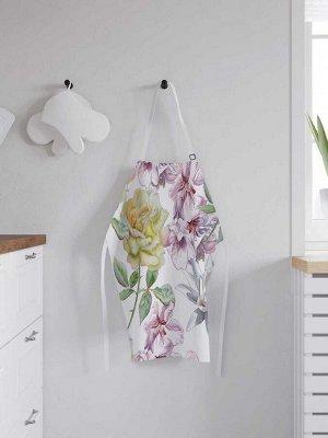 Фартук кухонный регулируемый «Весенние цветы», универсальный размер
