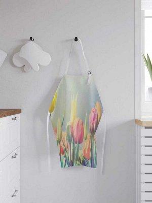 Фартук кухонный регулируемый «Весенние тюльпаны», универсальный размер