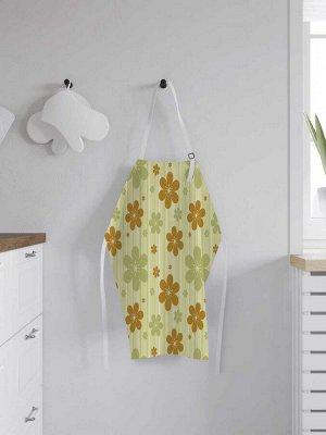 Фартук кухонный регулируемый «Горчичные цветочки», универсальный размер