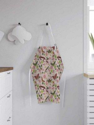 Фартук кухонный регулируемый «Весенние бабочки», универсальный размер