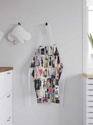 Фартук кухонный регулируемый «Модные обложки», универсальный размер