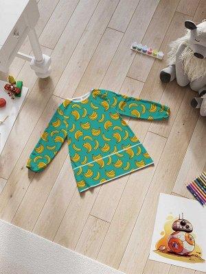 Фартук-накидка с рукавами для детского творчества «Модные бананы»