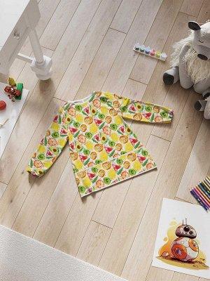 Фартук-накидка с рукавами для детского творчества «Дольки фруктов»