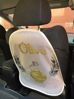 Универсальный чехол-накидка на автокресло «Оливковое масло»