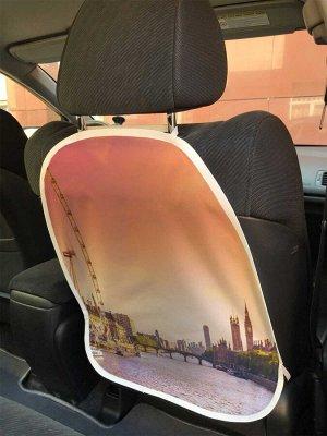 Универсальный чехол-накидка на автокресло «Колесо обозрения в лондоне»