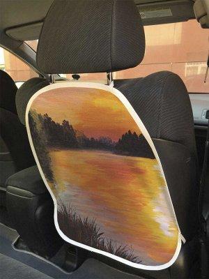 Универсальный чехол-накидка на автокресло «Божественная река»