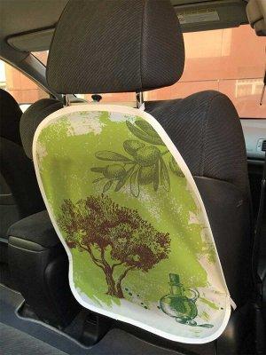 Универсальный чехол-накидка на автокресло «Оливковый рай»