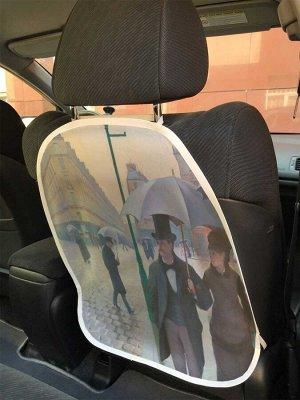 Универсальный чехол-накидка на автокресло «Горожане под дождем»