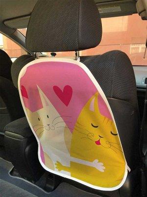 Универсальный чехол-накидка на автокресло «Кошачьи обнимашки»