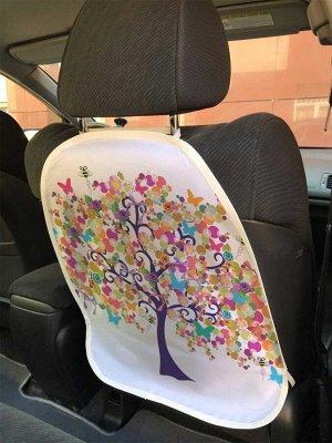 Универсальный чехол-накидка на автокресло «Дерево и бабочки»