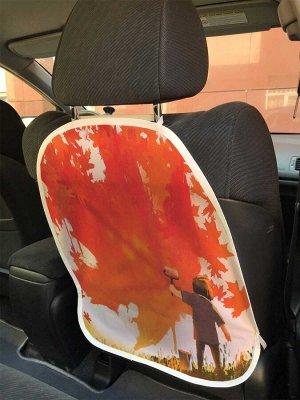 Универсальный чехол-накидка на автокресло «Украшение листьями»