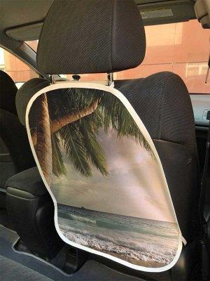 Универсальный чехол-накидка на автокресло «Переплетенные пальмы»