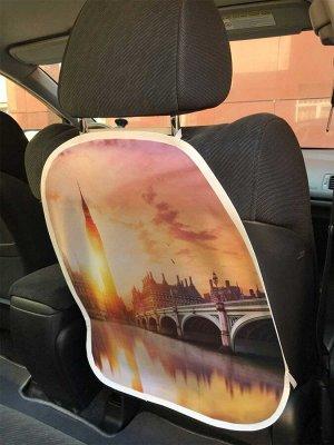 Универсальный чехол-накидка на автокресло «Лондонский закат»