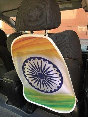 Универсальный чехол-накидка на автокресло «Флаг Индии»