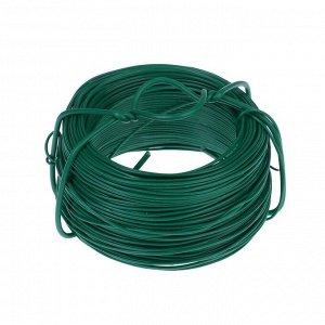 Проволока для подвязки растений, 50 м, d = 1,2 мм, зелёная, Greengo