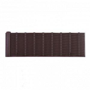 Ограждение декоративное, 29 ? 230 см, 4 секций, пластик, коричневое, «Лоза»