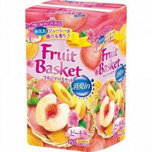 """Бумага туалетная Marutomi """"Fruit Basket"""" лимон-лайм 2-х слойная, 27,5м х 0,114м,12 рул/уп"""