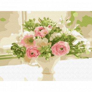 Набор ДТ Картина по номерам Букет невесты 15*20см KH0769