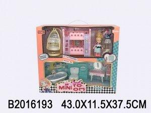 Набор мебели 353SD с куклой в кор.