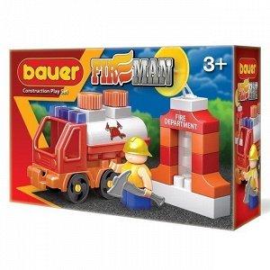 """Констр-р Bauer 738 """"Fireman"""" набор пожарная машина с цистерной"""