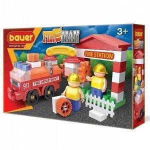 """Констр-р Bauer 739 """"Fireman"""" набор пожарная машина и пожарный гидрант"""