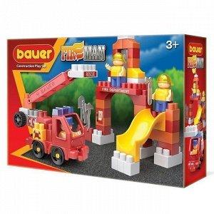 """Констр-р Bauer 740 """"Fireman"""" набор  пожарная машина и тренировочная площадка"""