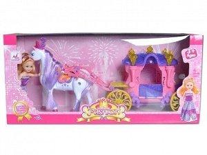 Карета 05011 для куклы с лошадью в кор.