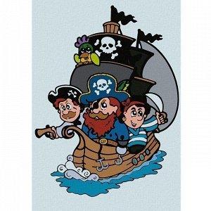 Набор ДТ Картина по номерам Пиратский корабль 20*30 см KHM0009