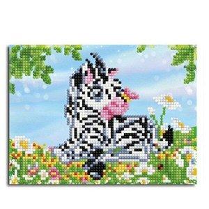 Набор ДТ Картина-открытка мозаикой.Маленькая зебра 15*20см KM0070/1