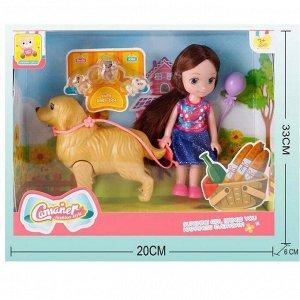 Кукла 128KQ Camaner прогулка с питомцами в кор.