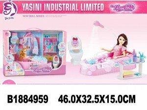 Кукла 599-2 ванная комната в кор.