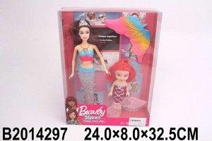 Кукла 6026H Русалочка с дочкой в кор.